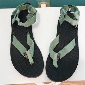 Green Teva Original Sandal